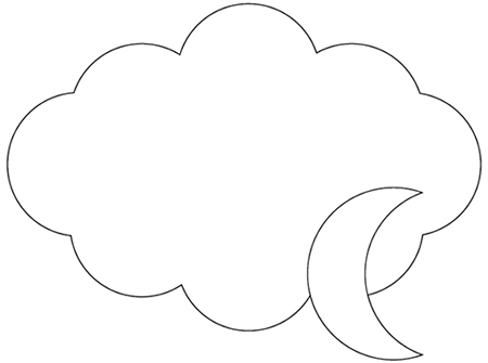 Illustrator 月と雲
