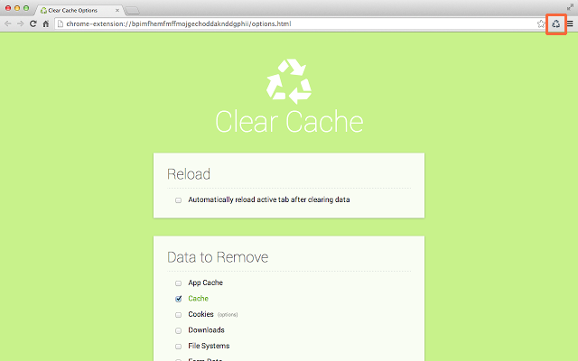 Clear Cache
