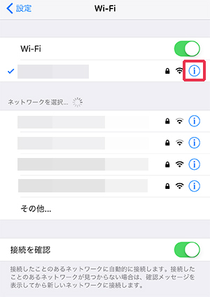 iPhone Wi-Fi 個別設定