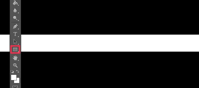 長方形ツールで線を作成