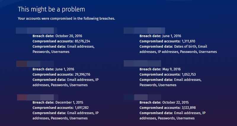 Firefox Monitor - 漏洩している場合