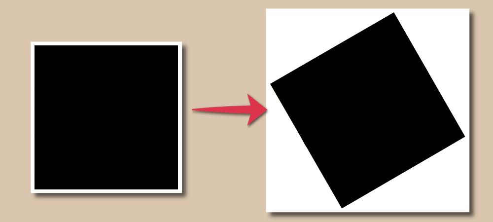 線で作った白フチと回転比較