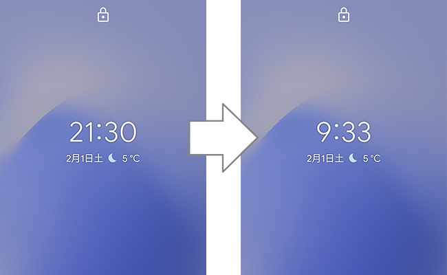 Android端末の24時間表示と午前午後表示