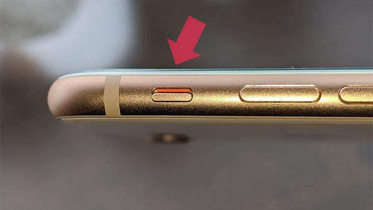 iPhoneのサイレントスイッチ