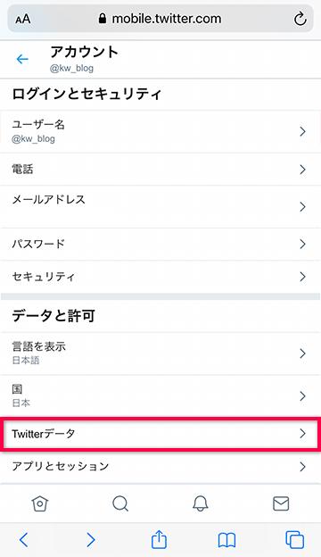 Twitterデータを開く