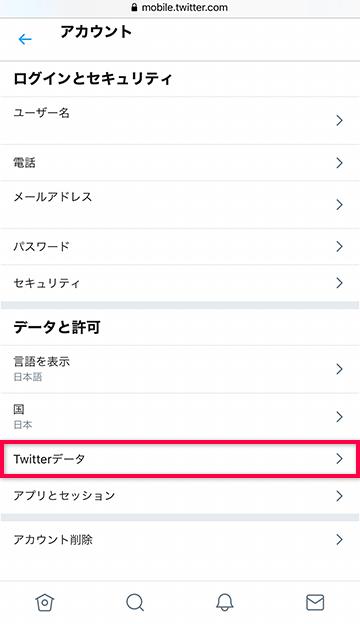 Twitterデータにアクセスする
