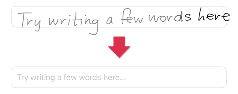 スクリブルで手書き入力を変換する