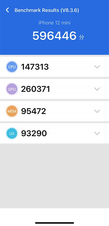 iPhone 12 mini AnTuTu