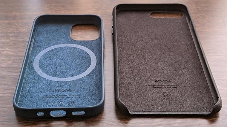 iPhoneレザーケースを以前のモデルと比較