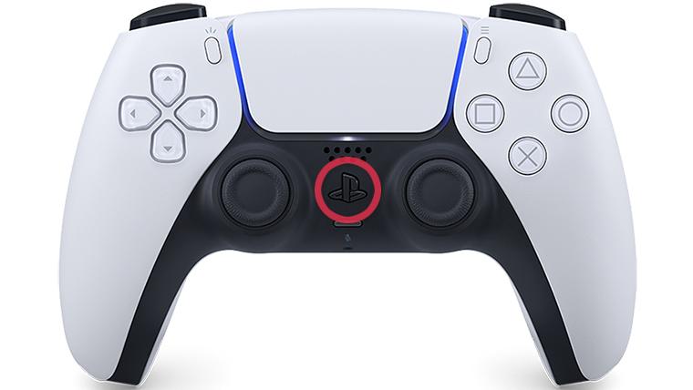PS5コントローラー電源オンオフ